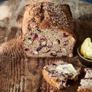 Spiced Tea Bread with Fresh Plums