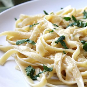 Alfredo Sauce Recipe and Video - This creamy alfredo sauce turns a busy weeknight dinner into something special. Serve it with fettuccine or pour it over chicken breasts or steamed vegetables.