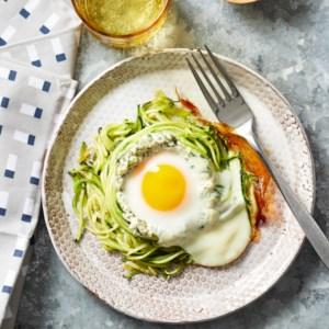 Spiralized Zucchini Nest Eggs