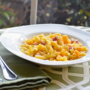 Gemelli Pasta with Roasted Pumpkin and Pancetta