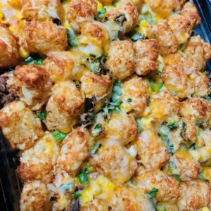 Tater Tot Taco Casserole Recipe and Video - This recipe gives you a Mexican-style version of tater tot casserole.