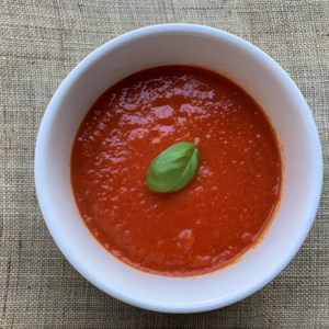 Simple Tomato Soup Recipe - This is a simple tomato soup recipe with lots of tomato flavor. It's vegan and leftovers make a great lunch the next day.