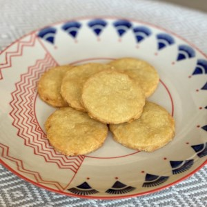 3-Ingredient Parmesan Cookies Recipe and Video - You will need only 3 ingredients to make these delicious cookies: butter, flour, and Parmesan cheese. They're perfect to nibble on with a glass of wine.
