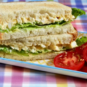 Southern-Style Egg Salad Recipe - Sweet and savory thanks to a variety of condiments, this Southern-style egg salad is great for sandwiches.