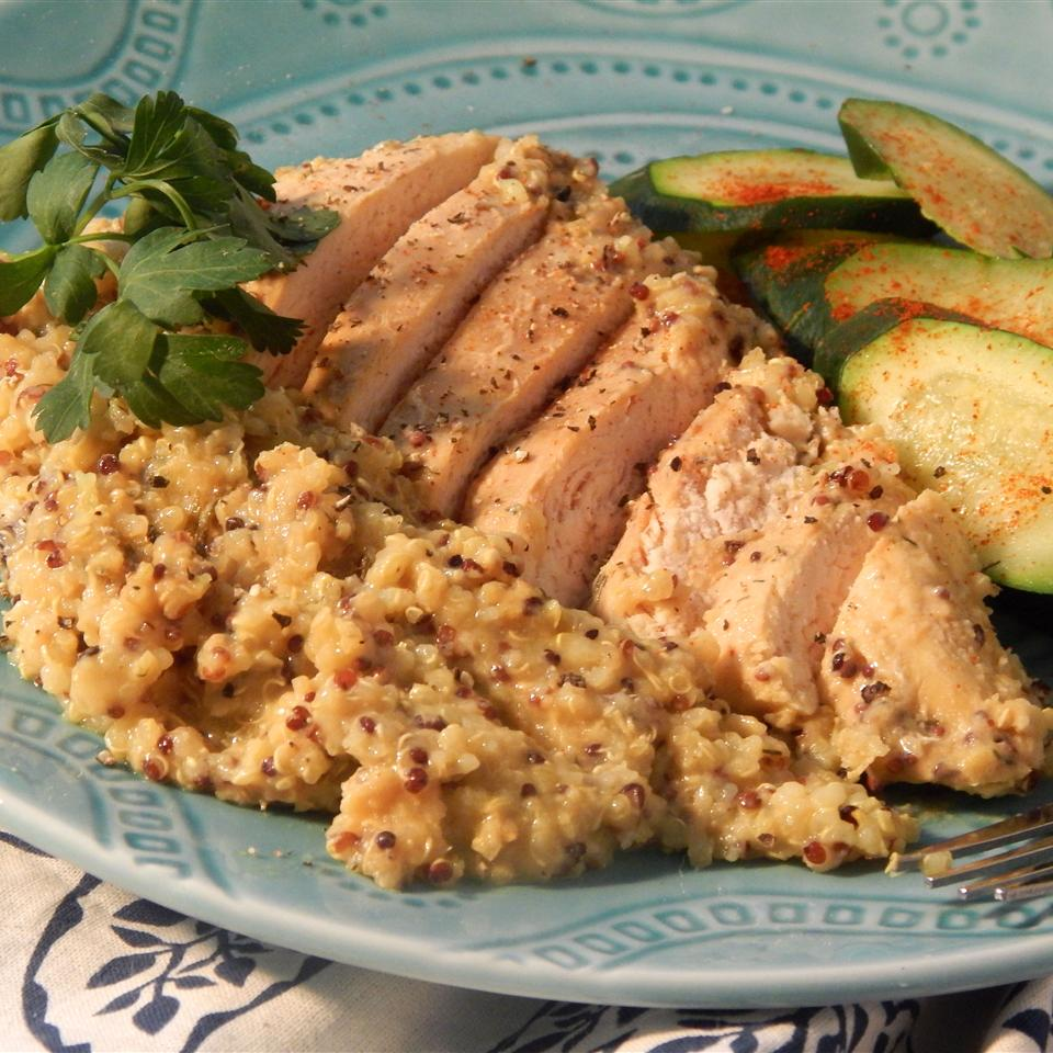 Quinoa and Honey Mustard Chicken Slow Cooker Meal Bestfoodist