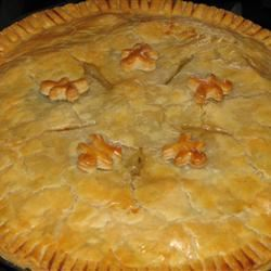 Old Fashioned Chicken Pot Pie PINK ROSES