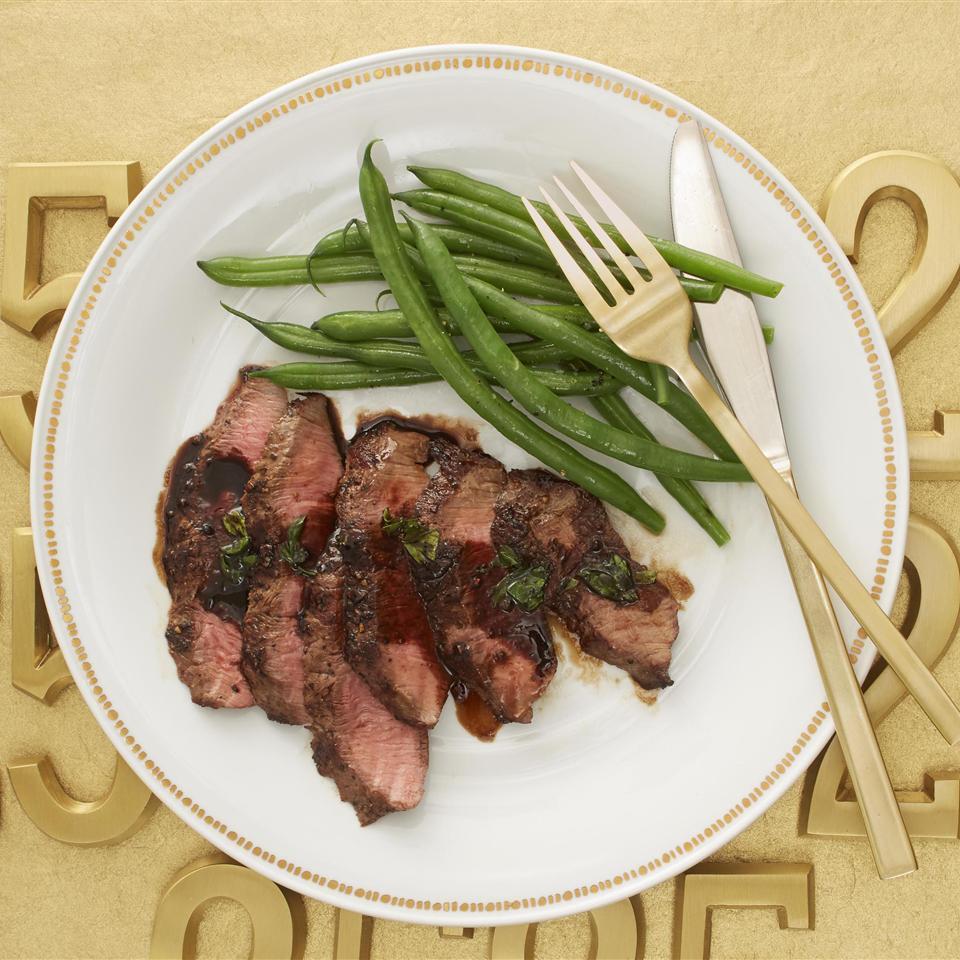 Flat Iron Steak with Balsamic Reduction Allrecipes Magazine