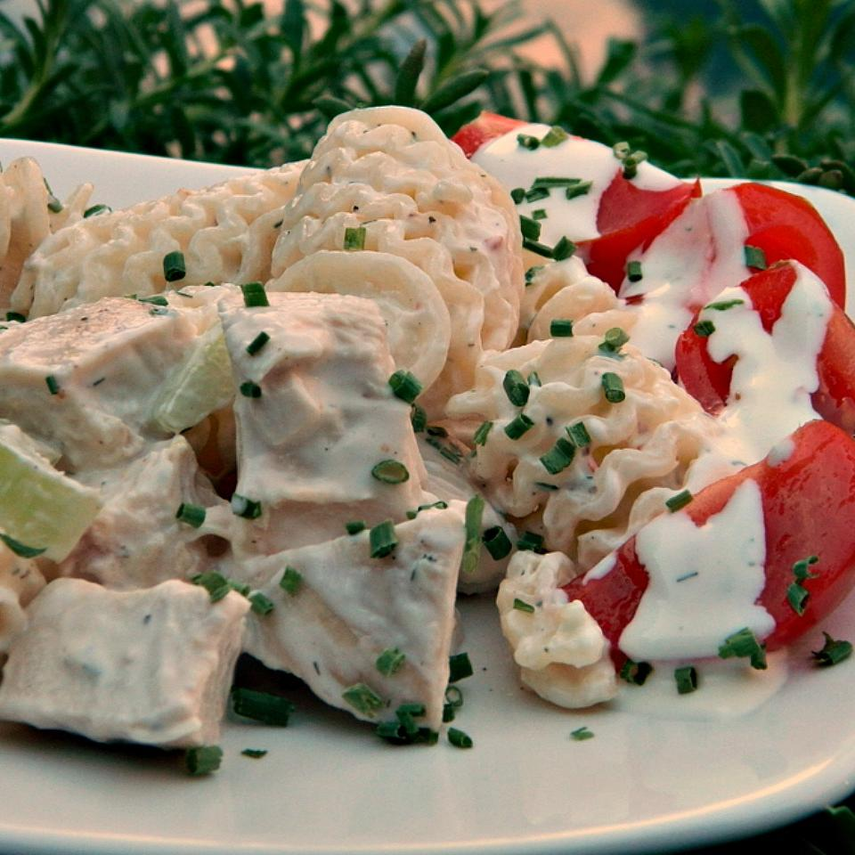 Dill Lemon Chicken Pasta Salad