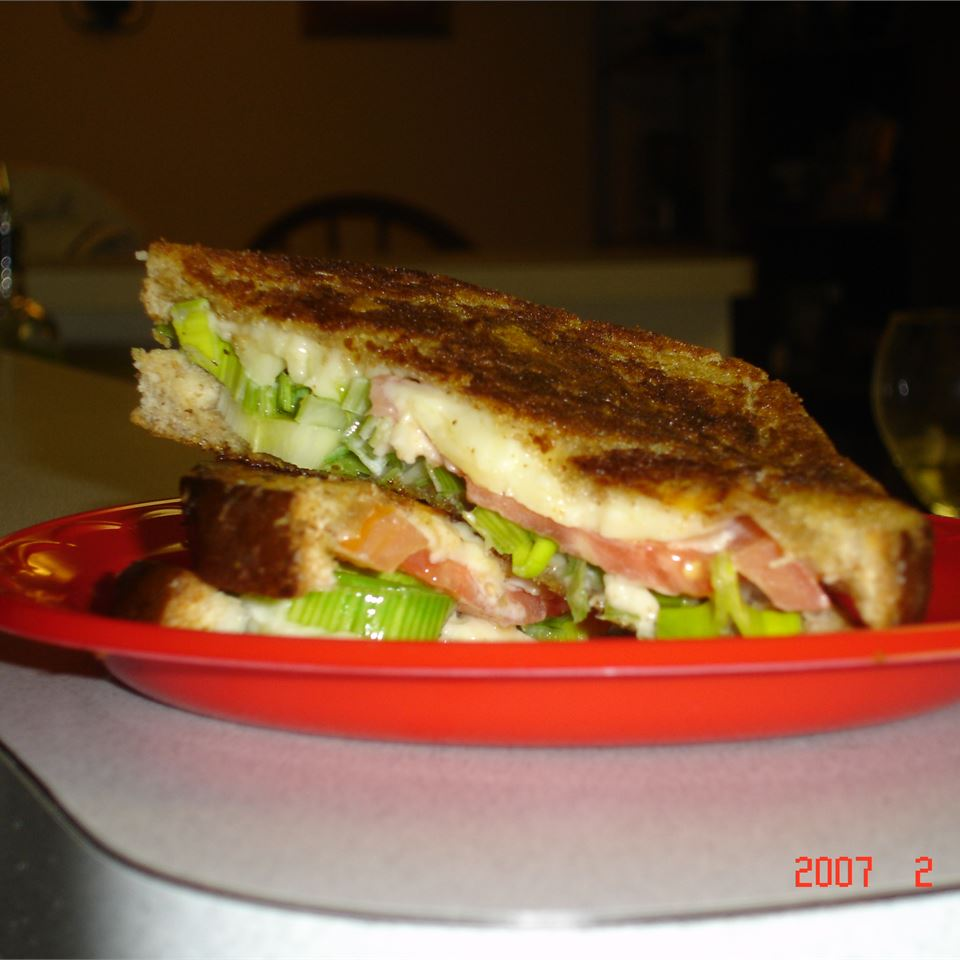 Cheddar, Baby Leek and Tomato Sandwich MOLLE888