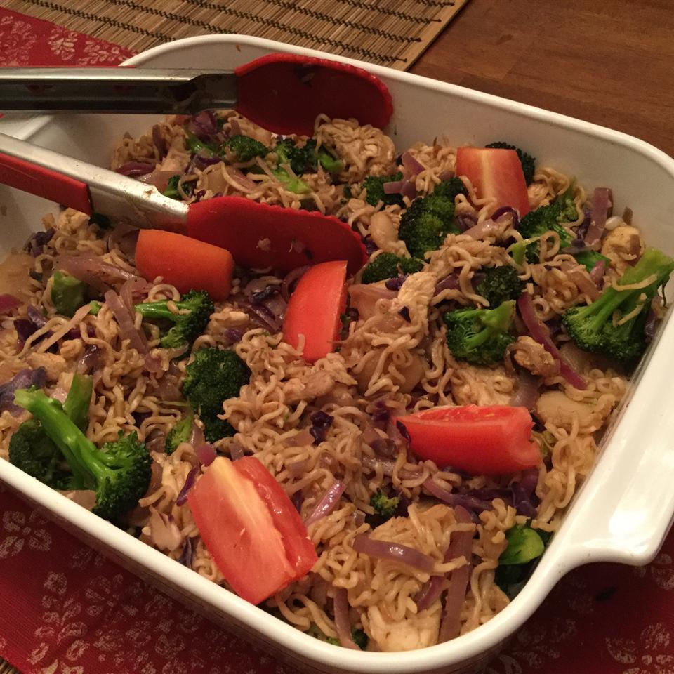 Ramen Noodle Stir-Fry with Chicken and Vegetables Nikki Rolando