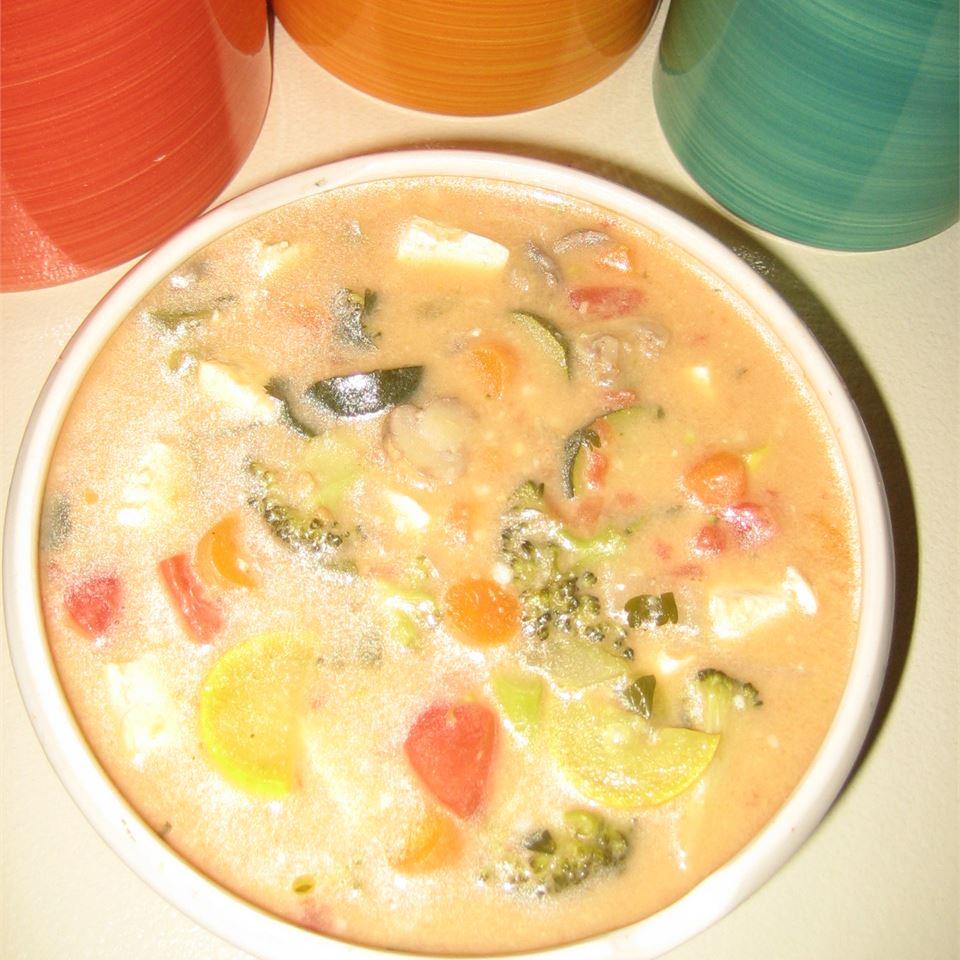 Peanut Butter Vegetable Chicken Soup
