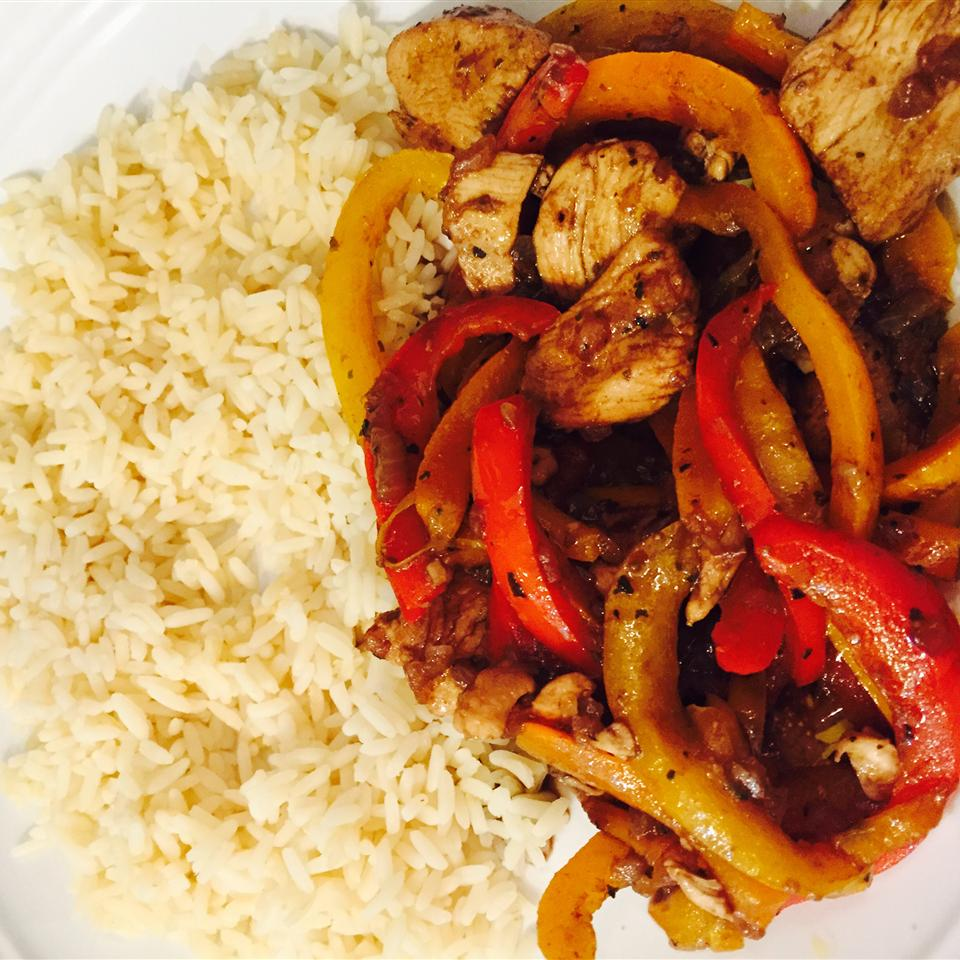 Chicken and Peppers with Balsamic Vinegar