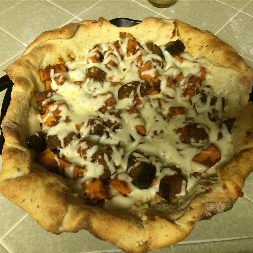 Sweet Potato and Curried Red Lentil Pizza