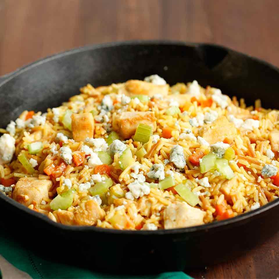 Buffalo Chicken & Rice Skillet Knorr