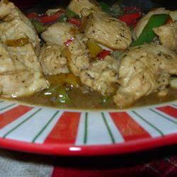 Chicken Poppy Seed Stir Fry