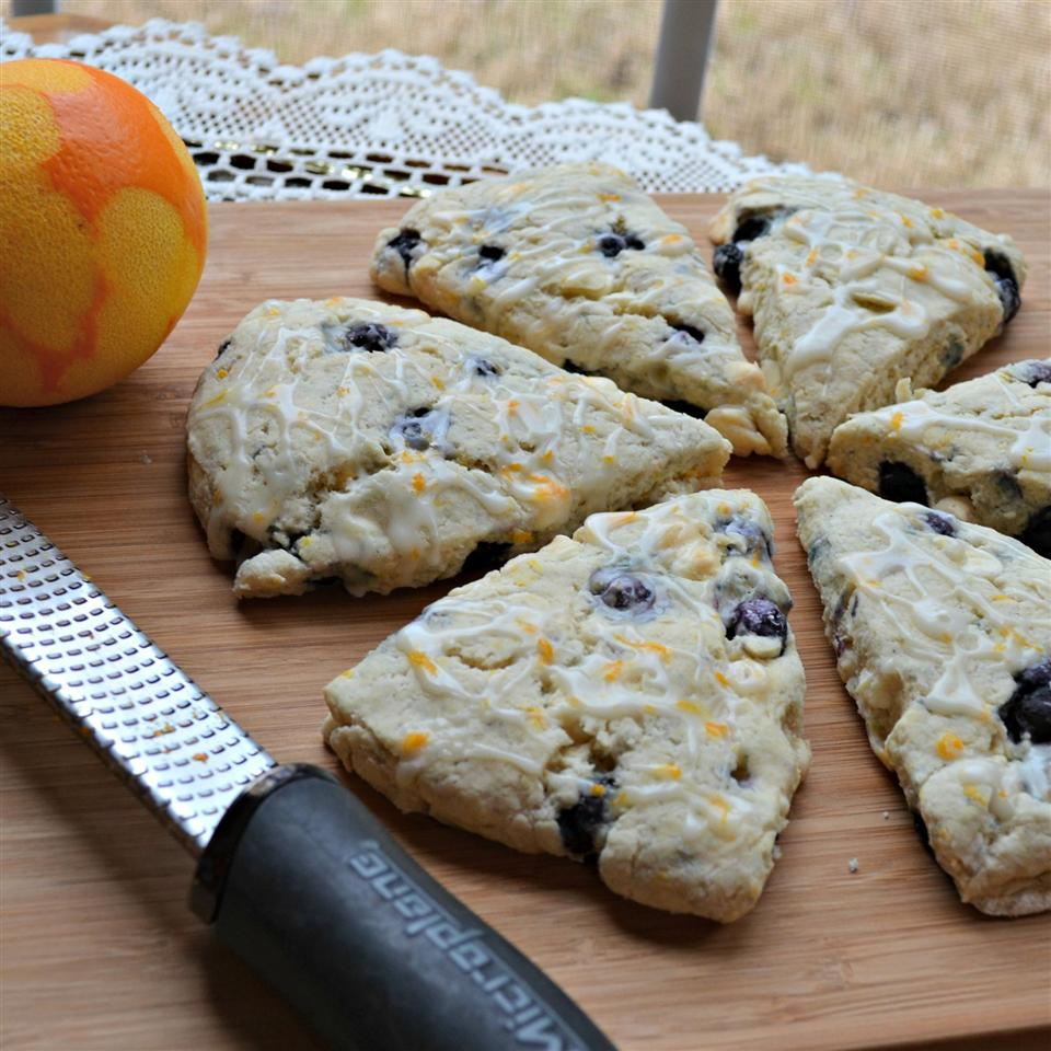 Blueberry Orange Scones with White Chocolate Chunks