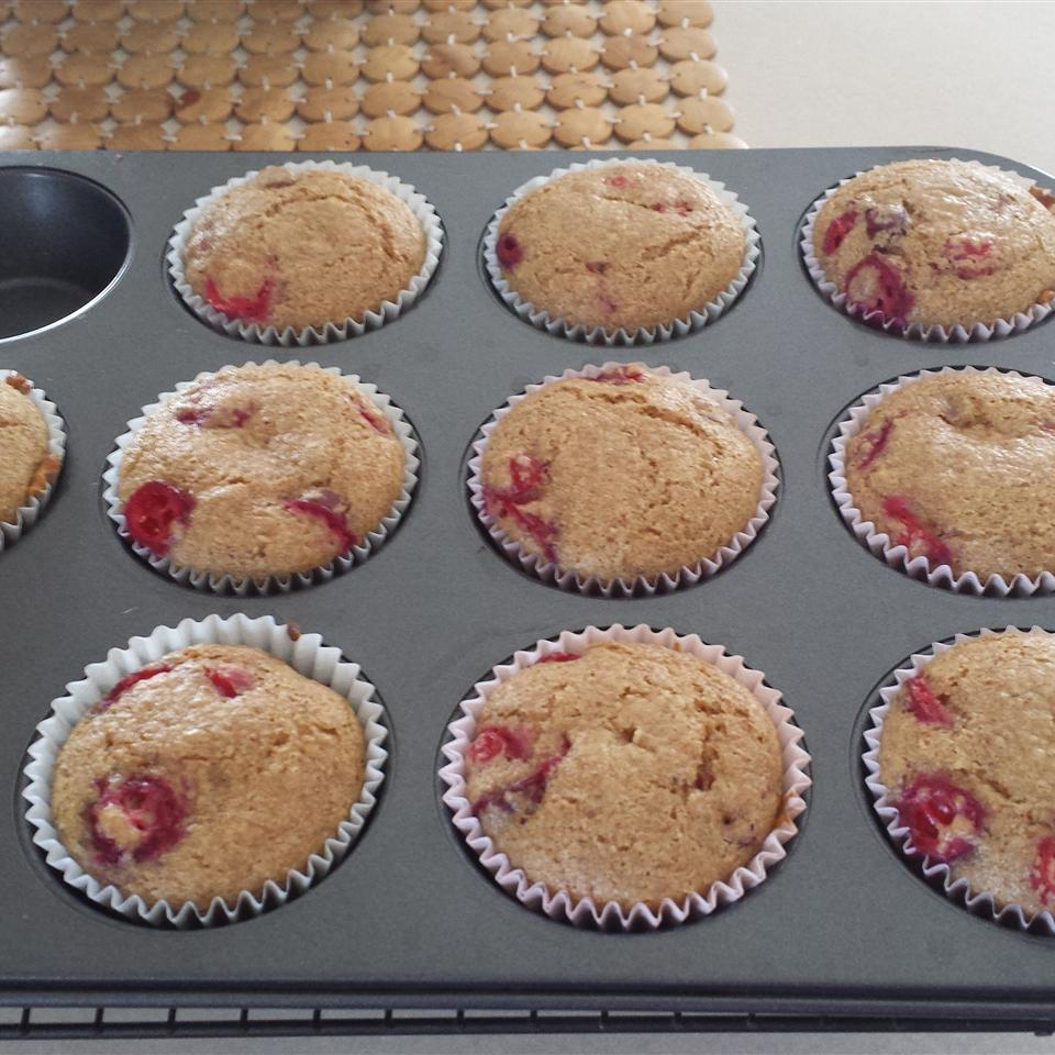 Lemon Cranberry Whole Wheat Muffins