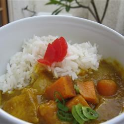 Mild Coconut Chicken Curry with Sweet Potato