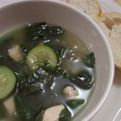Garlic Spinach Soup Rae