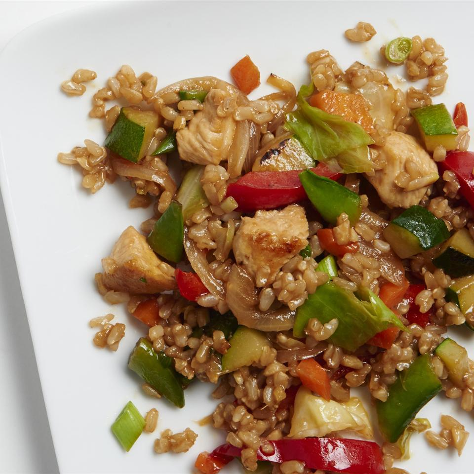 Veggie-Packed Chicken Fried Rice