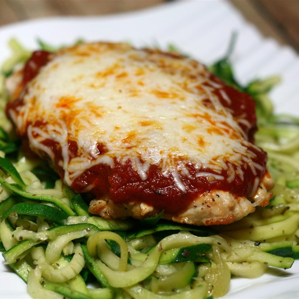 Chicken Parmesan with Zucchini Pasta France C