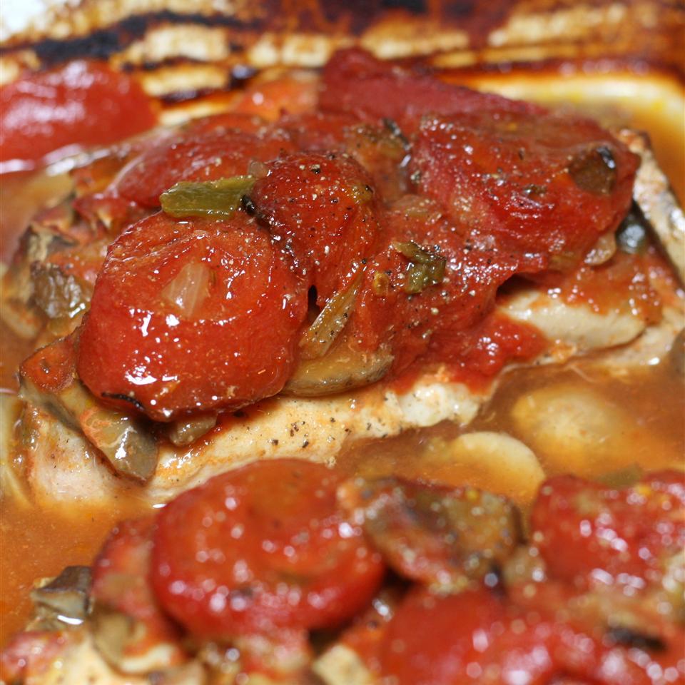 pork chop recipe with stewed tomatoes Pork Chops with Stewed Tomatoes