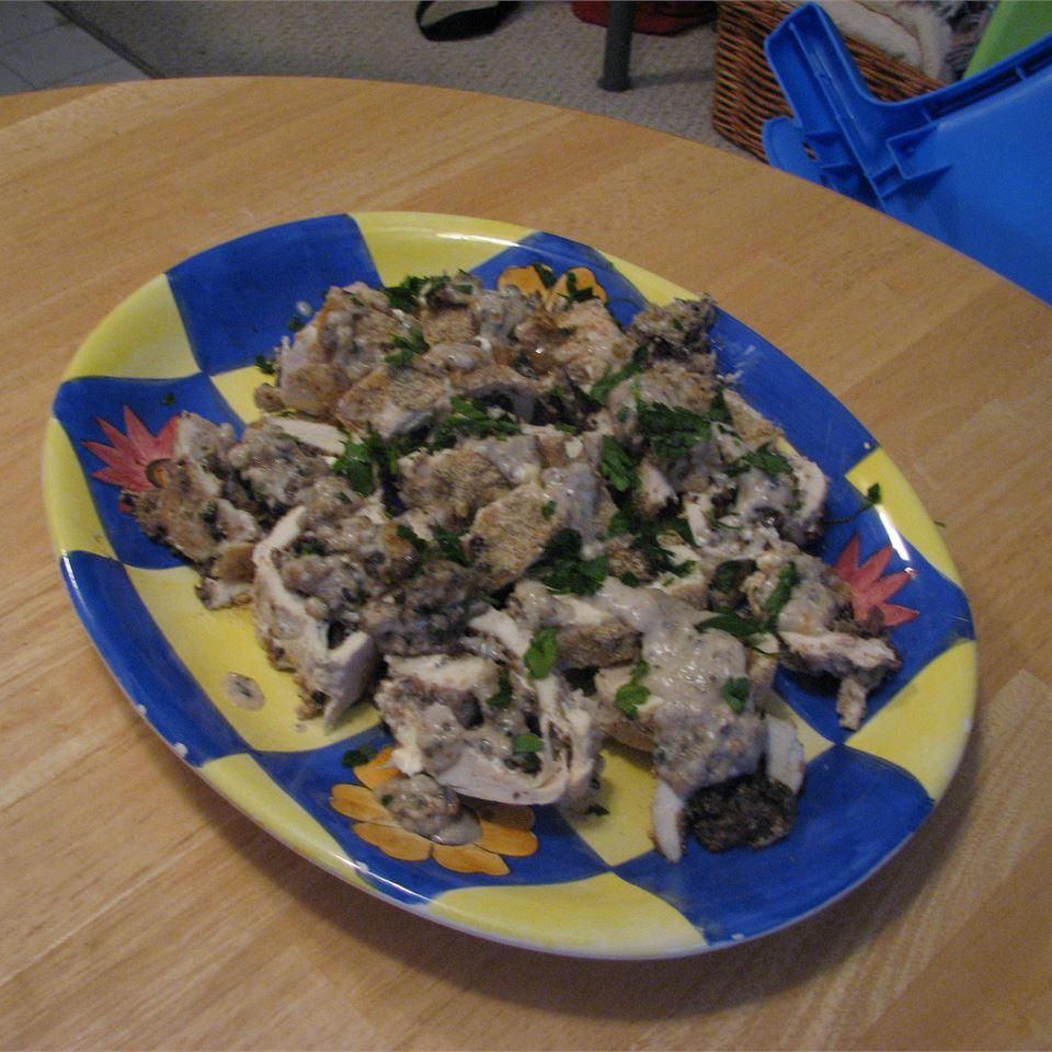 Mushroom Stuffed Chicken Rollups kelcampbell