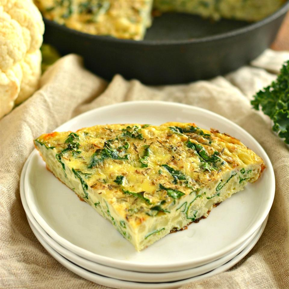 Cauliflower Kale Frittata - Printer Friendly
