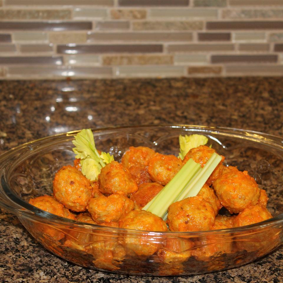 Buffalo Chicken Meatballs Ms. Chef Esh