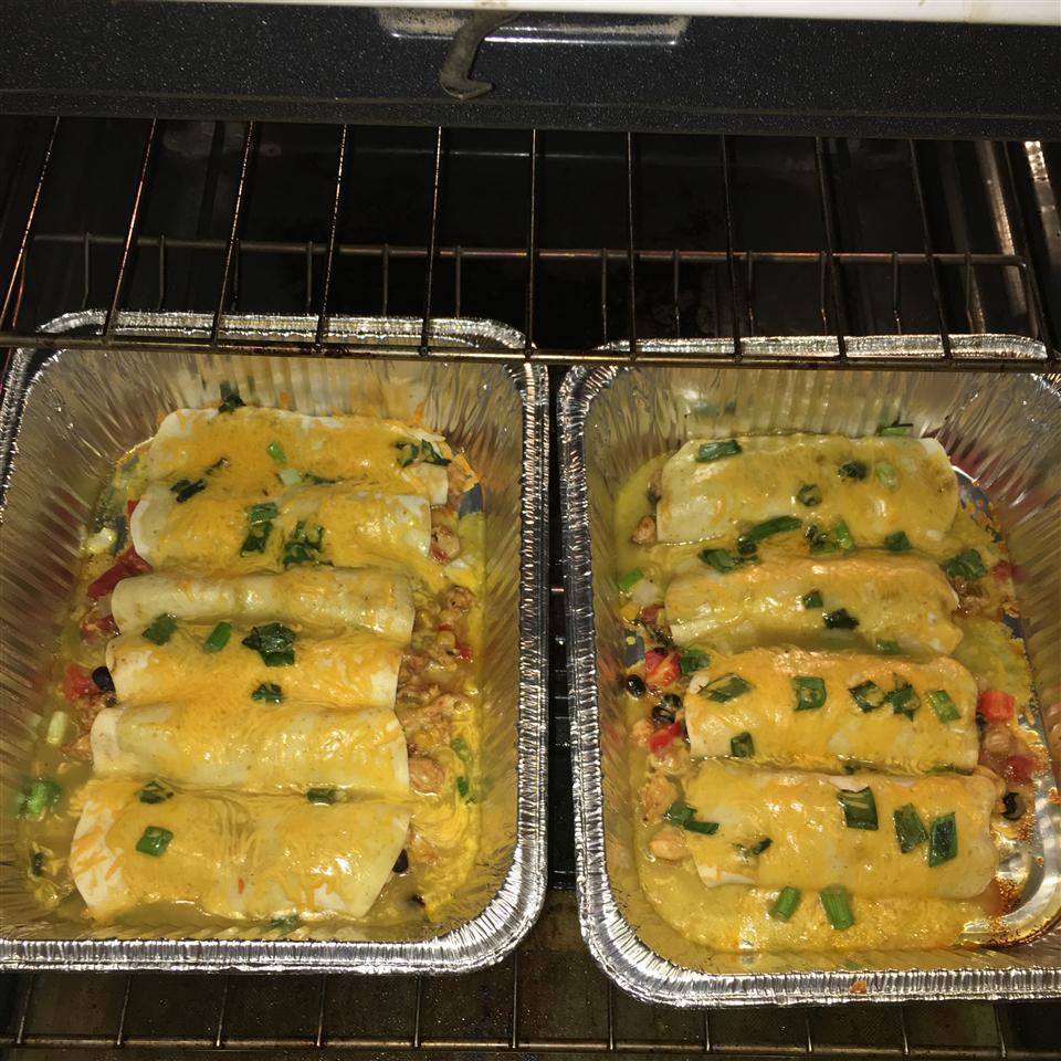 Fiesta Chicken and Black Bean Enchiladas from Mission(R) Erikka BeeCroi Croisseux