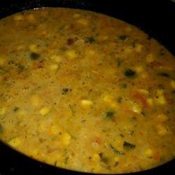 Peanut Butter Vegetable Chicken Soup lovestohost