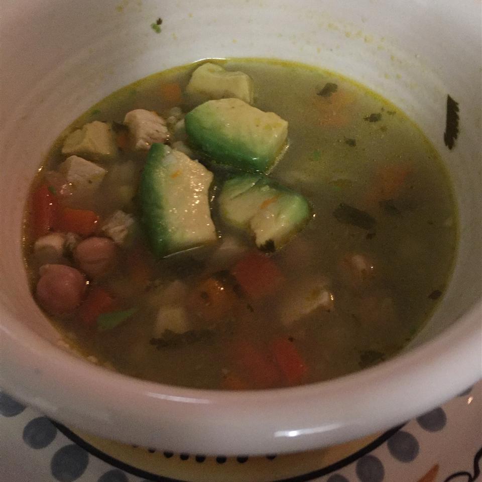 Peruvian Chicken Soup (Aguadito de Pollo) PebblePeach