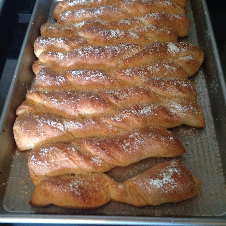Soft Garlic Parmesan Breadsticks