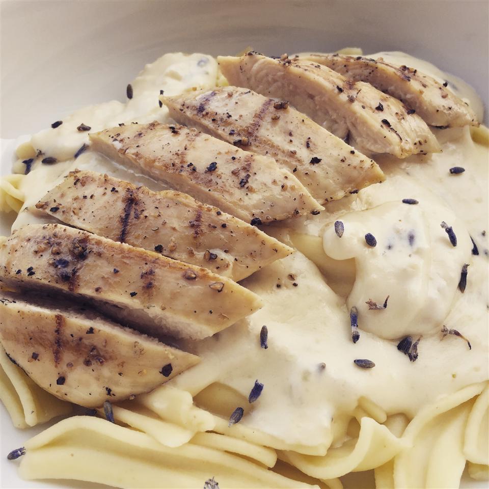 Lavender Chicken Pasta thedailygourmet