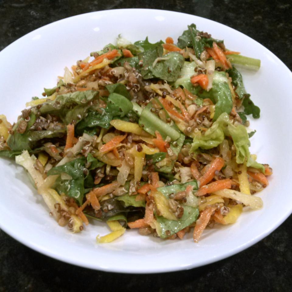 Kale, Carrot, and Sunflower Seed Salad