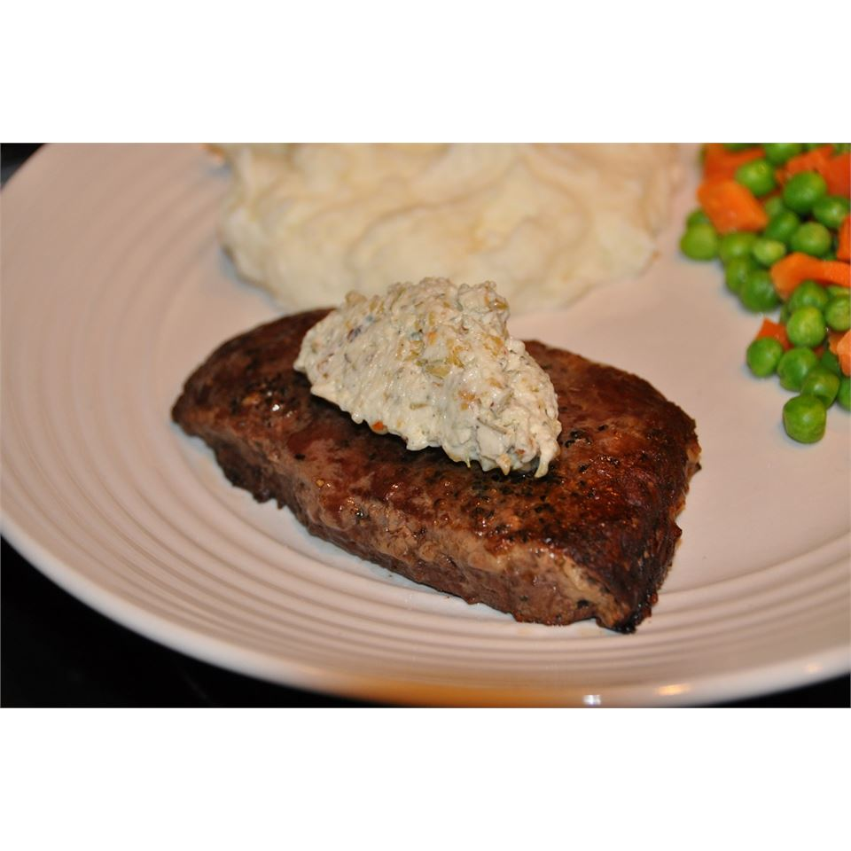 Tenderloin with Spicy Gorgonzola-Pine Nut-Herb Butter LaurenMV