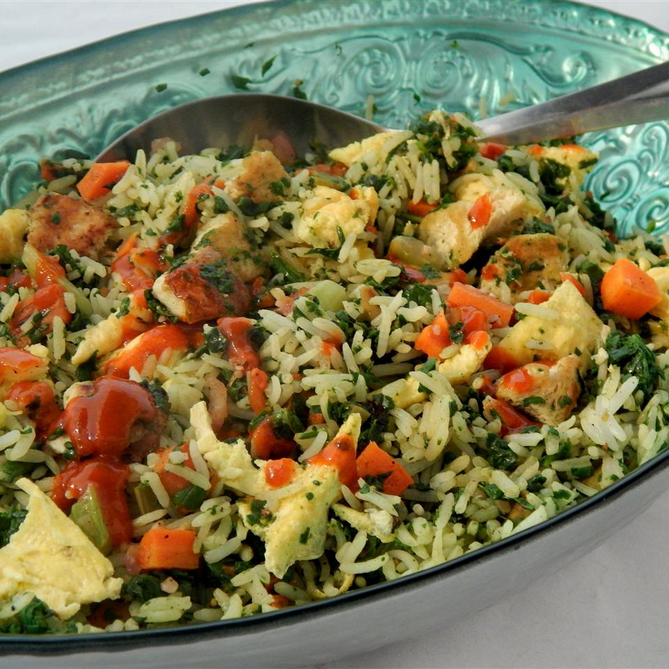 Protein-Packed Vegetarian Fried Rice - Printer Friendly