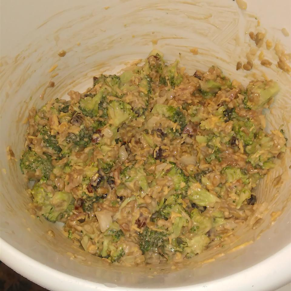 Bacon Broccoli Salad with Raisins and Sunflower Seeds Anita Daniels Oliver