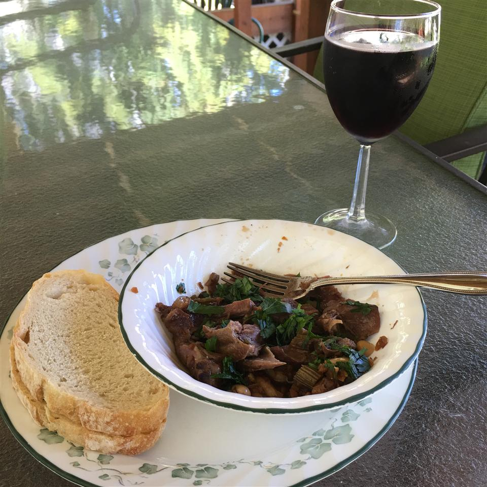 Pressure Cooker Lamb Shanks with White Beans