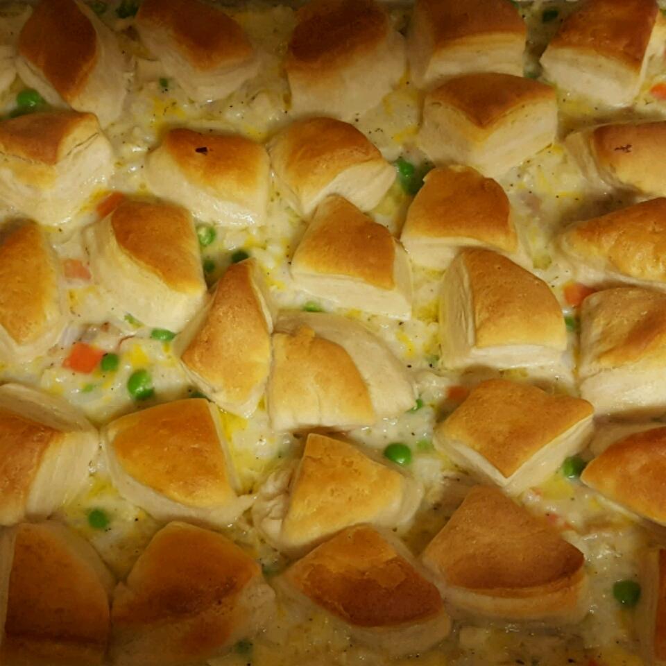 Chicken, Rice, and Biscuit Casserole Kristi Walton-Brown