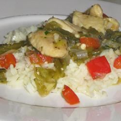 Chicken with Tomatillos and Poblanos Allie