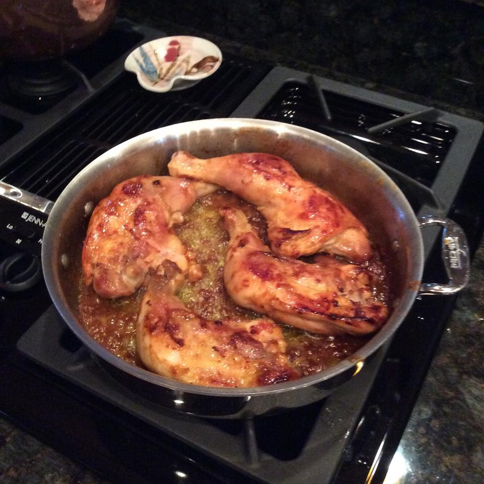 Honey Drizzled Curry Mustard Chicken