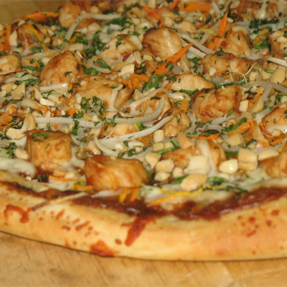 Thai Chicken Pizza with Carrots and Cilantro Ben Shapiro