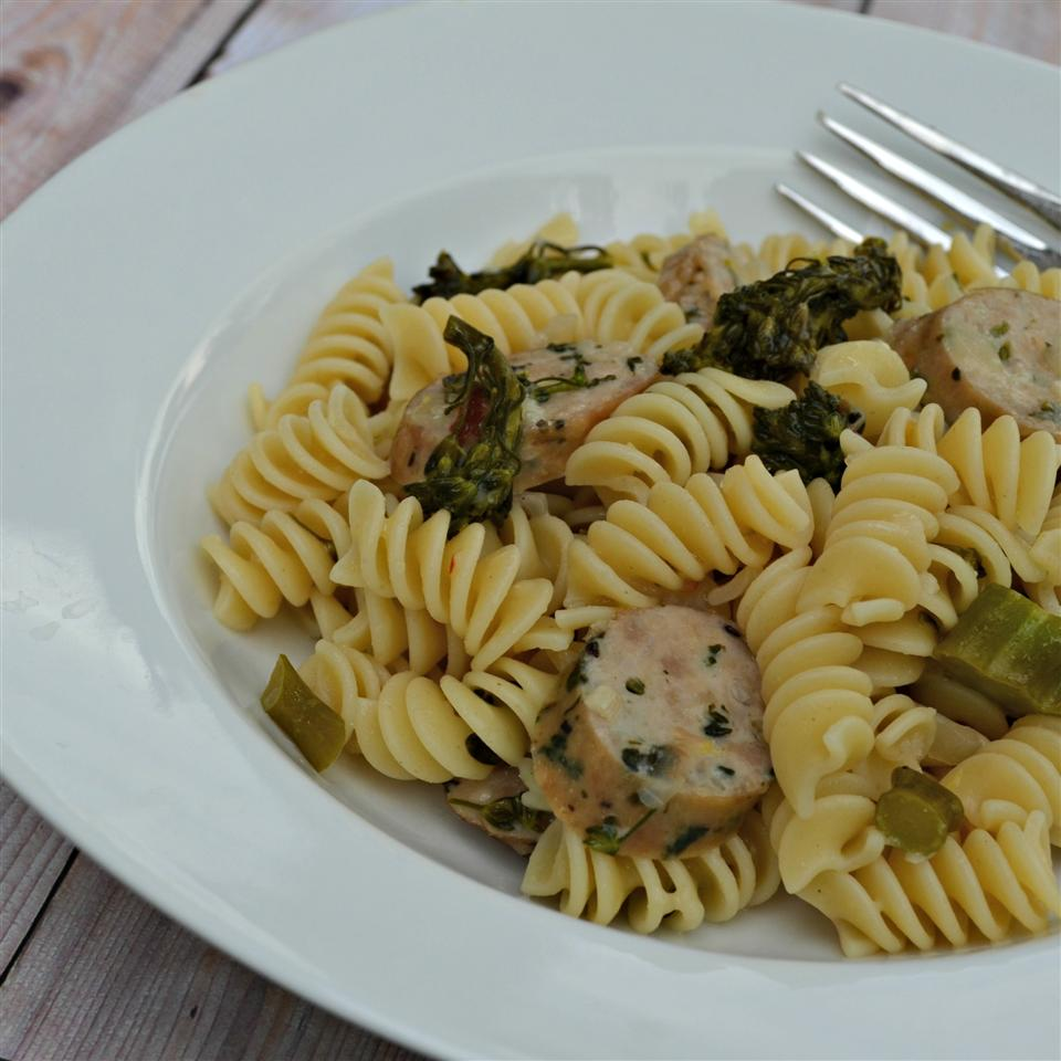 Lemon Broccolini and Sausage Pasta