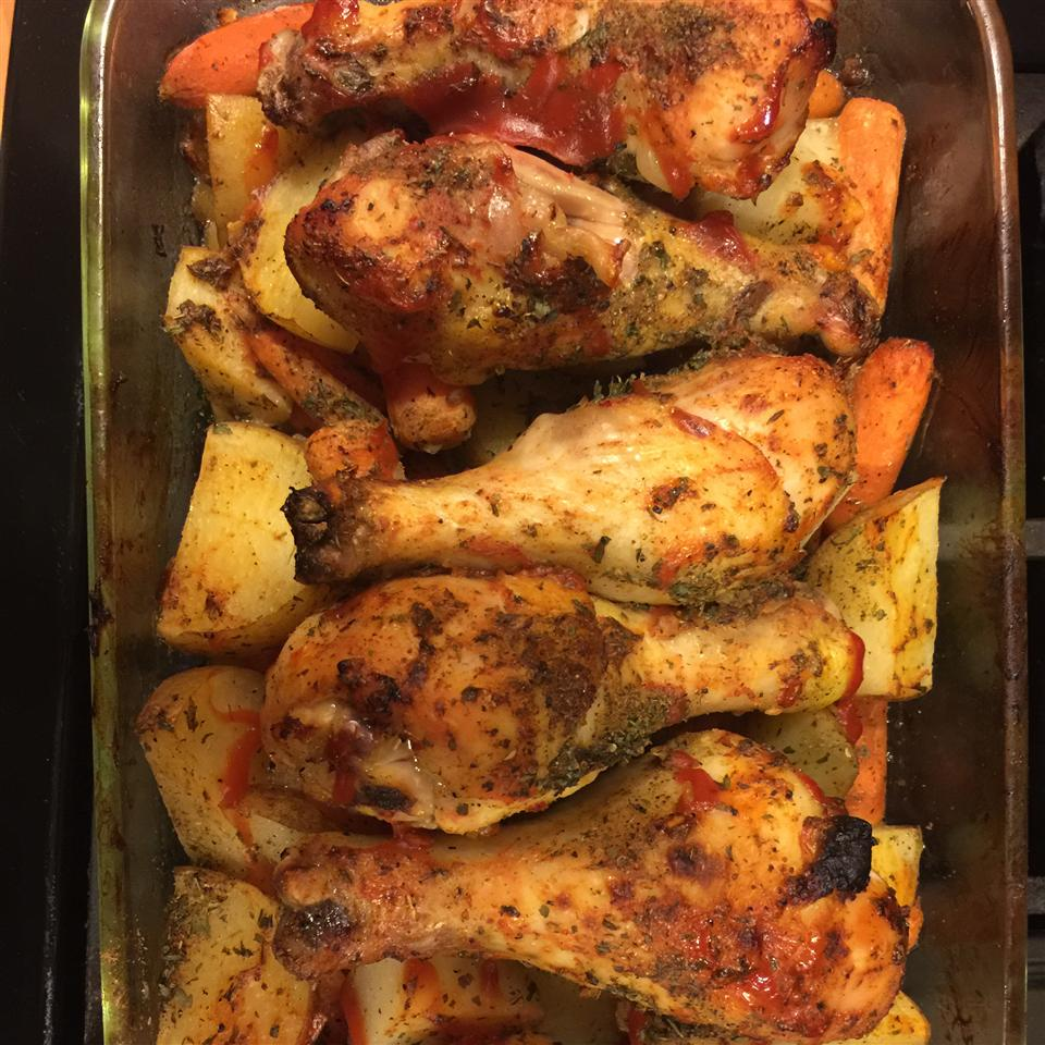 Clamato(R) Baked Chicken Legs