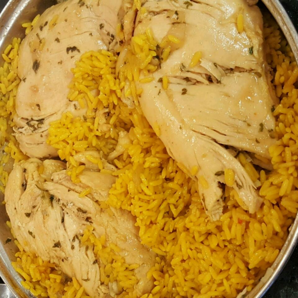 Cheesy Chicken and Yellow Rice Dezy Mobley