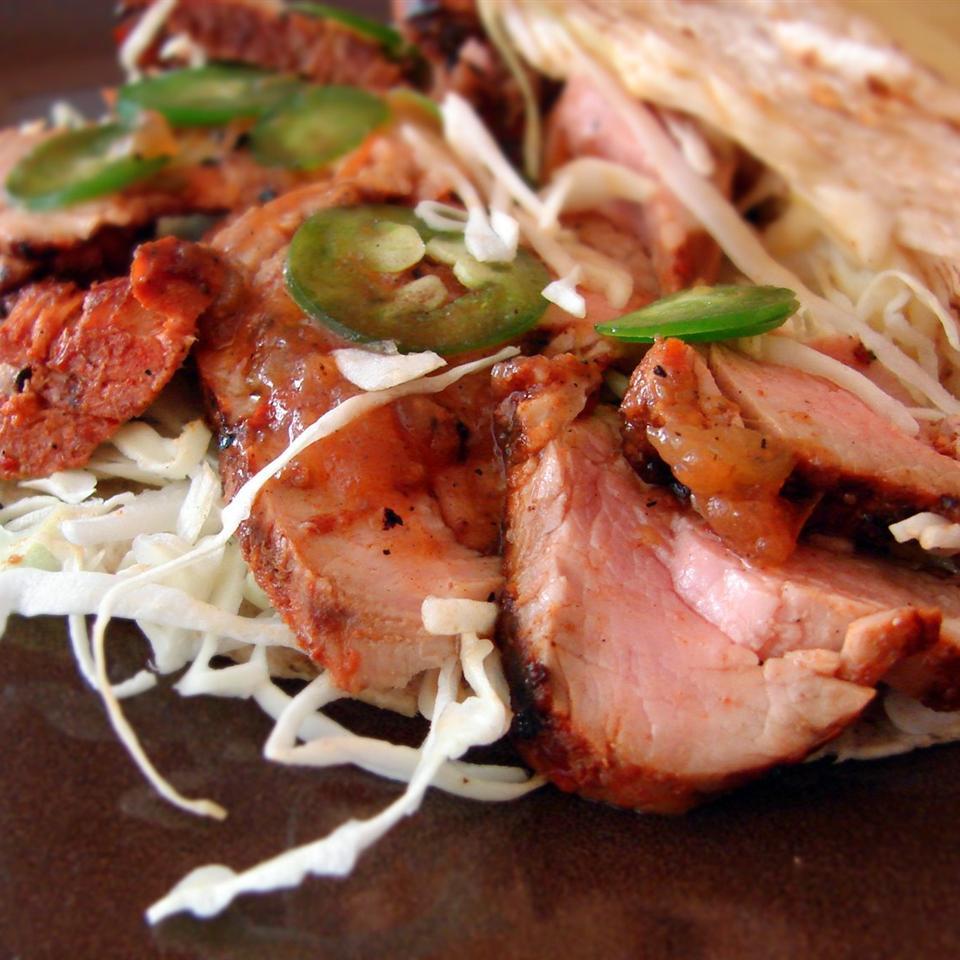 Grilled Pork Tacos al Pastor - Printer Friendly