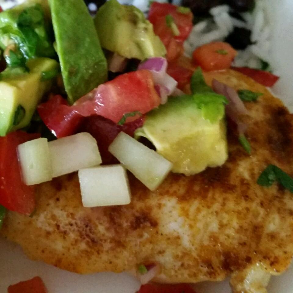 Cumin Rubbed Chicken with Avocado Salsa Elvira Silva