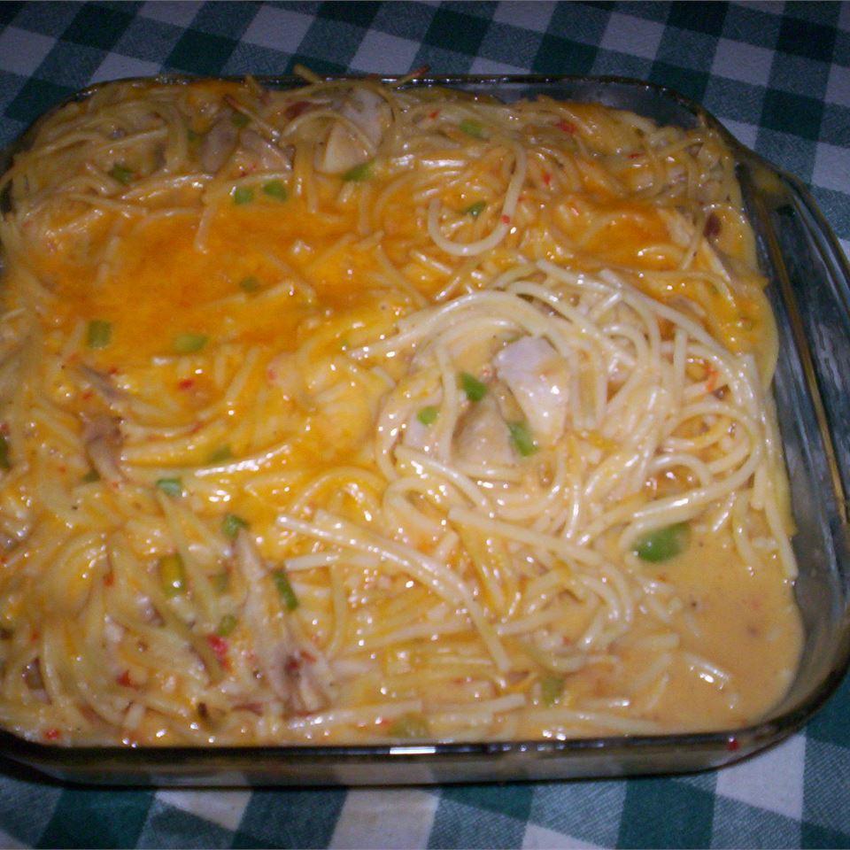 Spaghetti Chicken Casserole becca