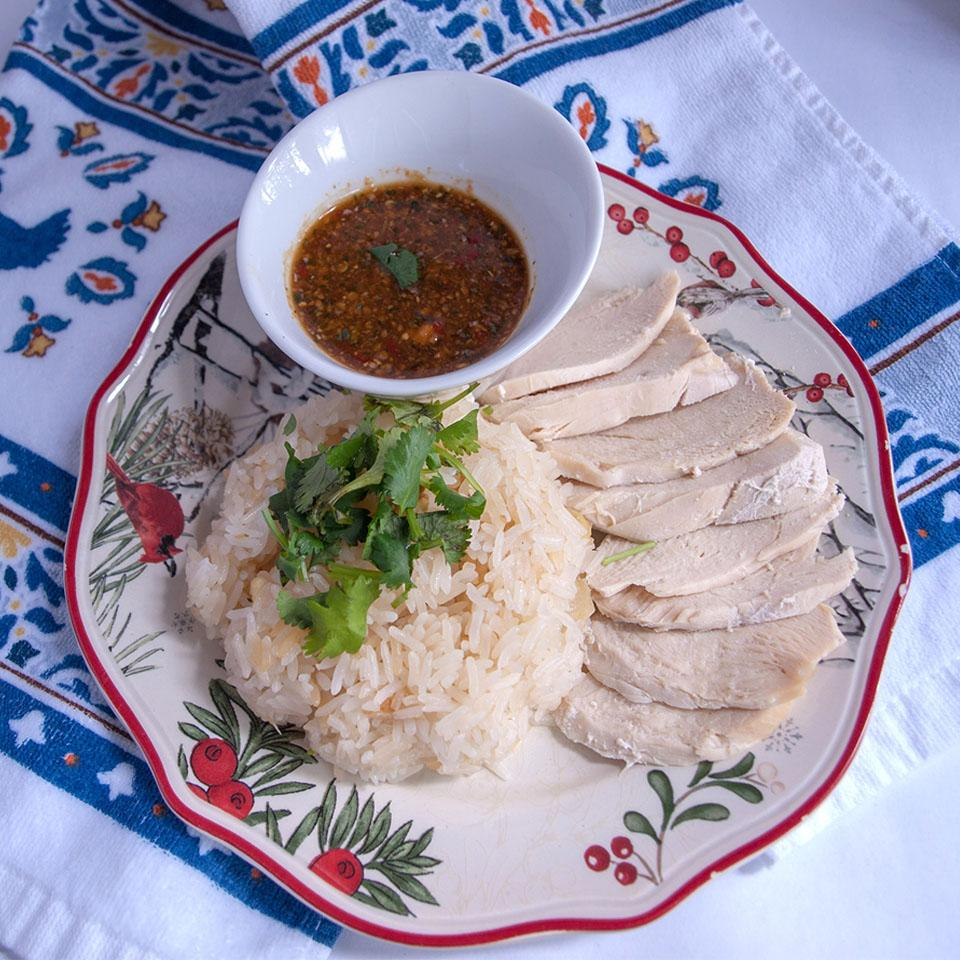 Khao Man Gai Thai Chicken and Rice (Healthy Version)